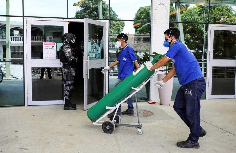 Sem oxigênio nos hospitais, Manaus vive uma crise sem precedentes Foto: Bruno Kelly/Reuters