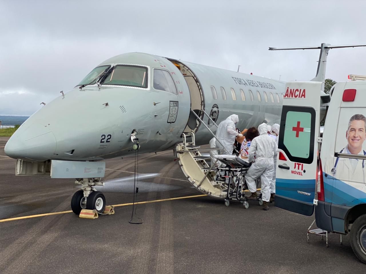Manaus envia pacientes com Covid-19 para Teresina - Foto: Divulgação/Força Aérea Brasileira