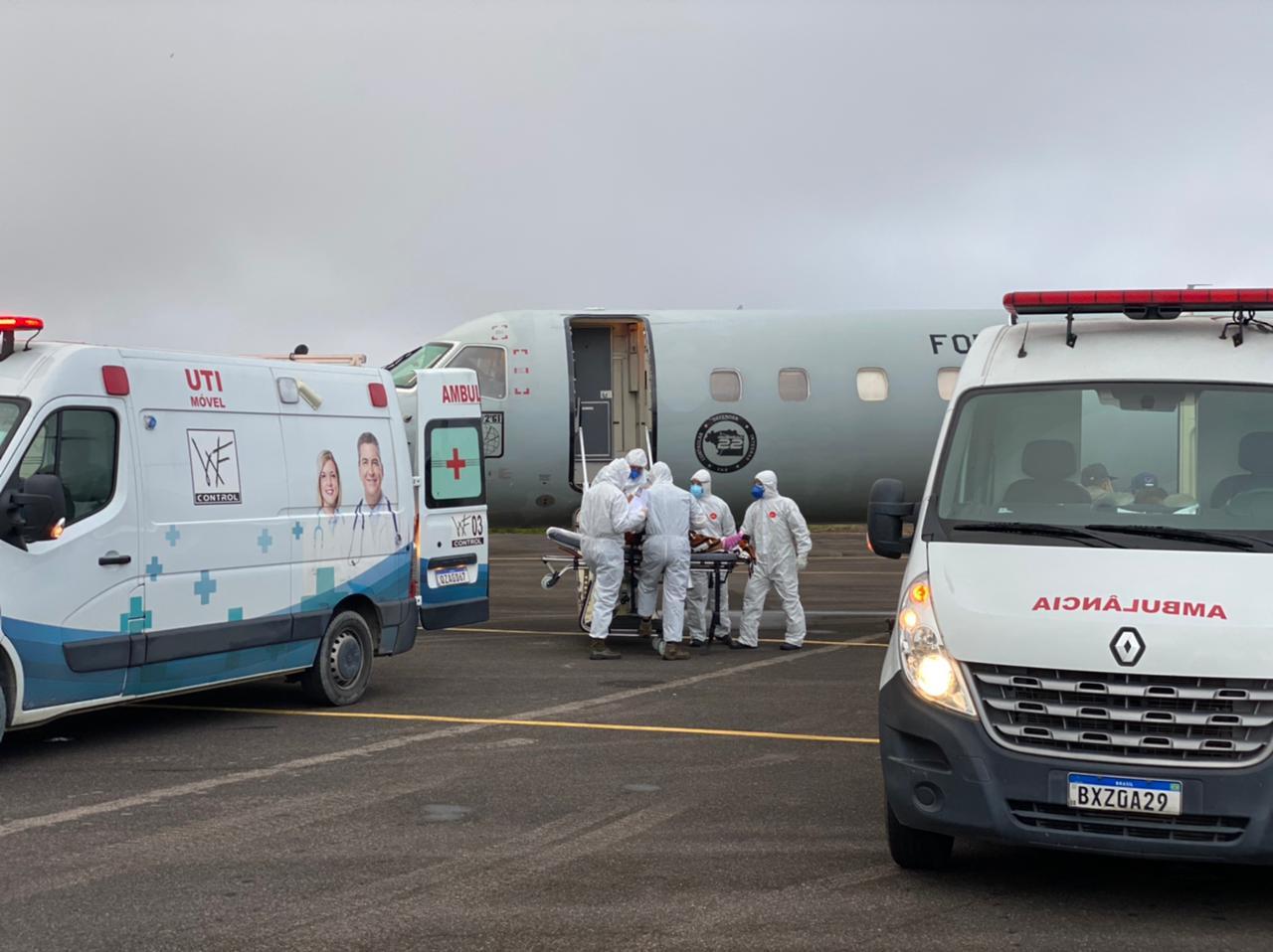 Manaus envia pacientes com Covid-19 para Teresina - Foto: Divulgação/ Força Aérea Brasileira