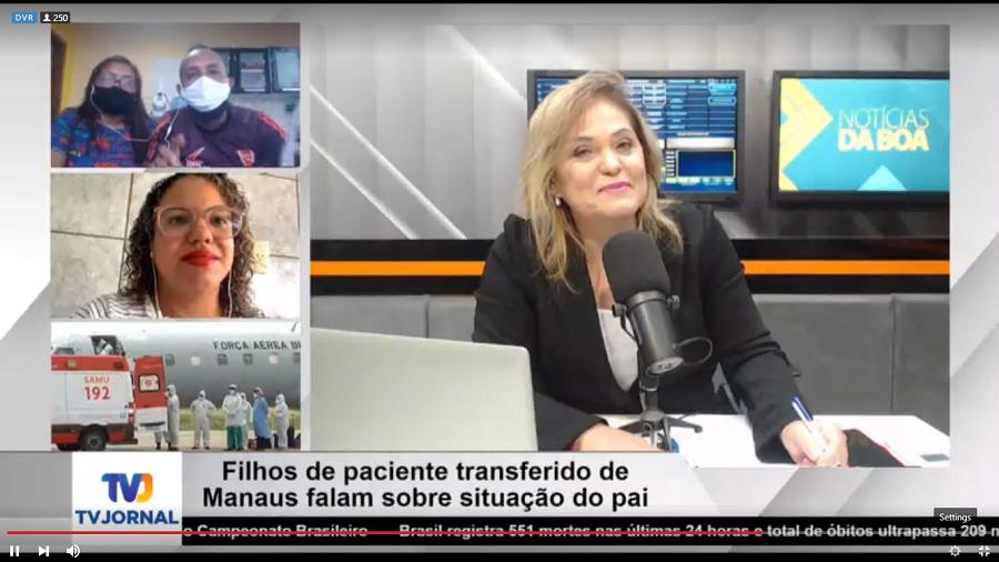 Filhos de paciente transferido de Manaus falam sobre situação do pai no Notícias da Boa