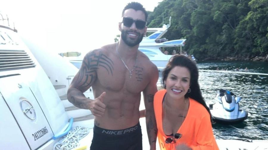 Gusttavo Lima e Andressa Suita juntos pela primeira vez após separação
