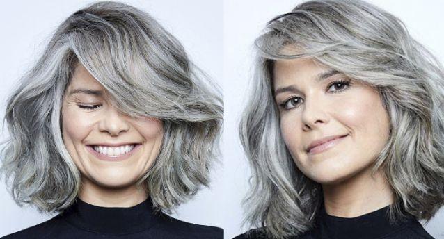 Samara Felippo inova e surge com cabelos totalmente grisalhos; vídeo - Imagem 2