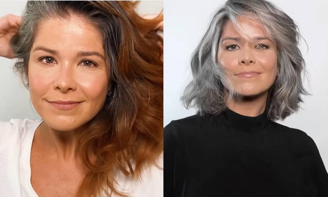 Samara Felippo inova e surge com cabelos totalmente grisalhos; vídeo - Imagem 1