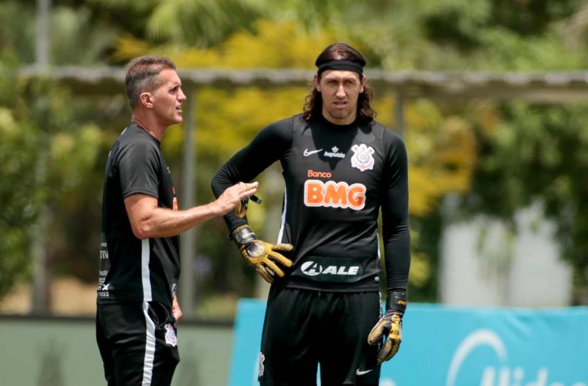 Mancini comandou treino tático e de bolas paradas nesta quarta-feira (20) (Foto: Rodrigo Coca/Agência Corinthians)