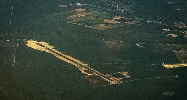 Pista do aeroporto de Parnaíba (Foto: redes sociais)