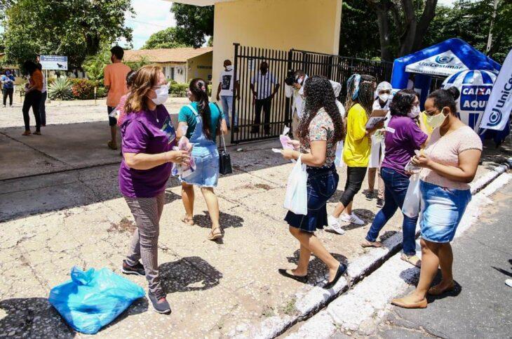 Candidatos no primeiro dia de provas do Enem em Teresina - Foto: Seduc-PI