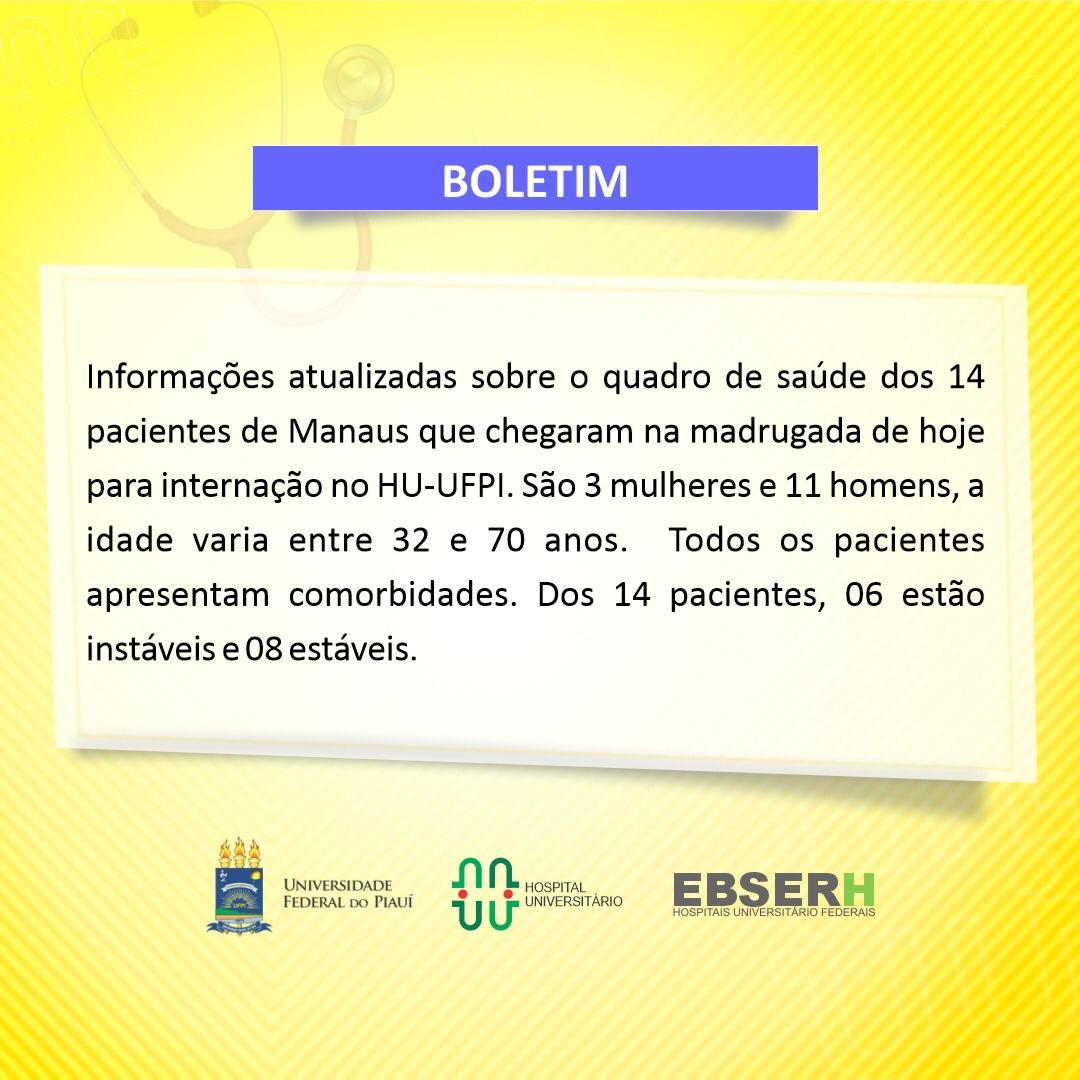 Teresina recebe mais 14 pacientes de Manaus com Covid-19 - Imagem 1