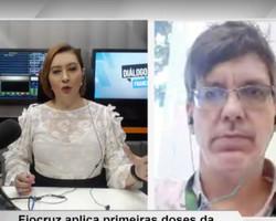 """""""Absolutamente nenhum efeito colateral"""", diz 1º brasileiro a receber vacina da Oxford"""
