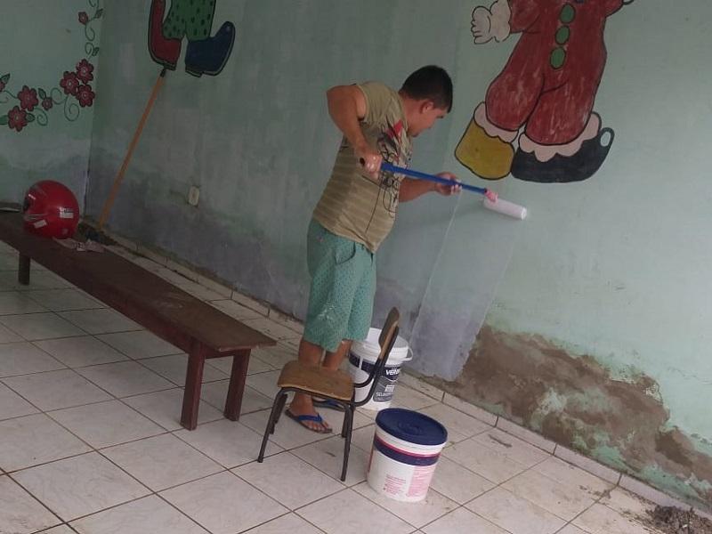 Milton Brandão: Município realiza limpeza nos colégios  - Imagem 1