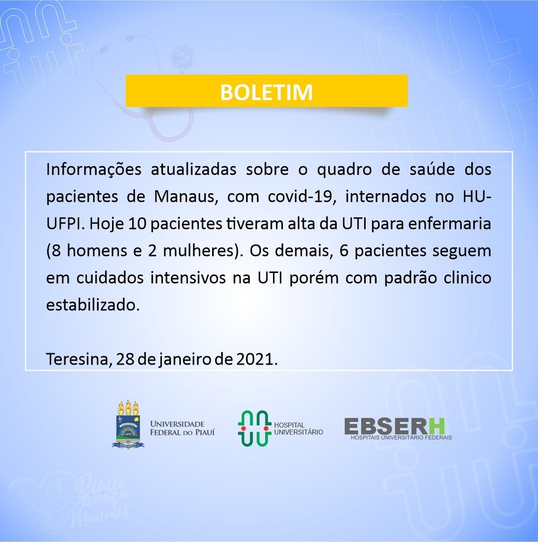 Covid: Dez pacientes de Manaus recebem alta da UTI para a enfermaria - Imagem 1