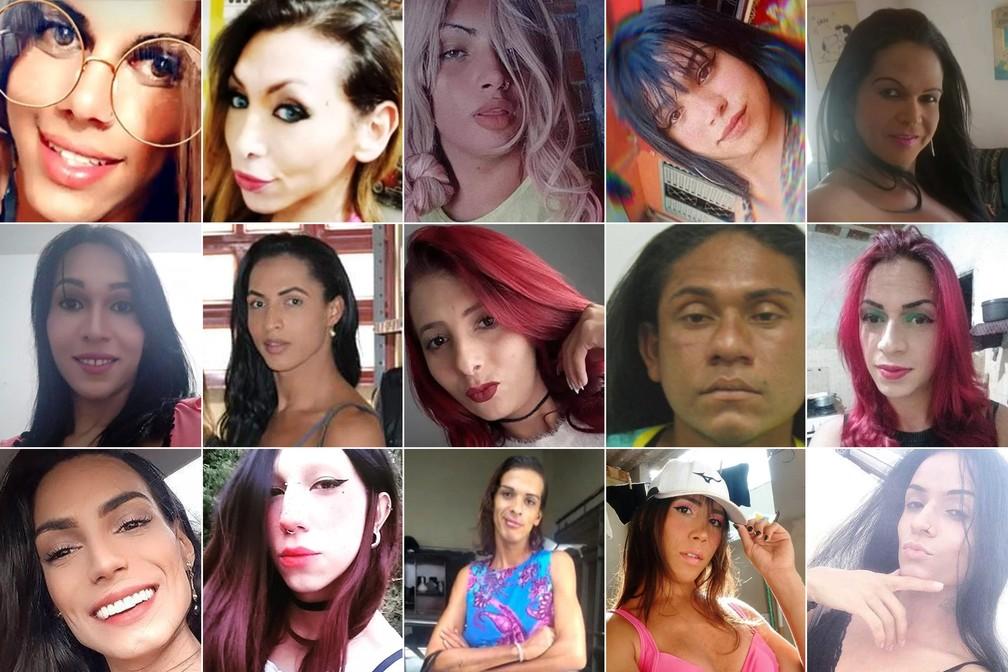 Imagens de vítimas cujas mortes foram reportadas pelo G1 ao longo do ano — Foto: G1