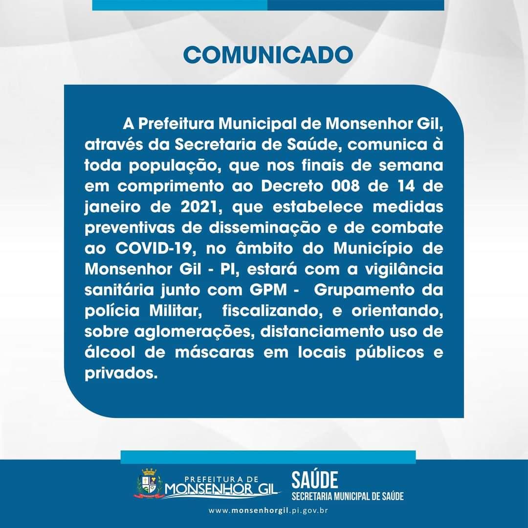 Prefeitura de Monsenhor Gil intensifica ações no combate ao Covid-19 - Imagem 10