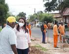 Dinair Veloso inicia 1° dia de trabalho em ação de limpeza pública