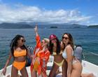 Thelma mostra celebração em barco com ex-BBBs e Marquezine