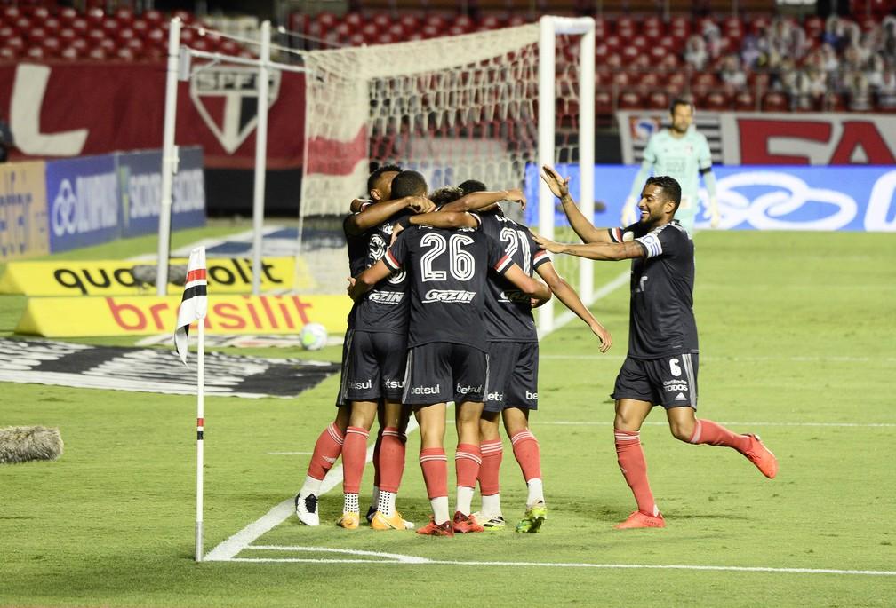 Gol Brenner São Paulo x Botafogo — Foto: Marcos Ribolli