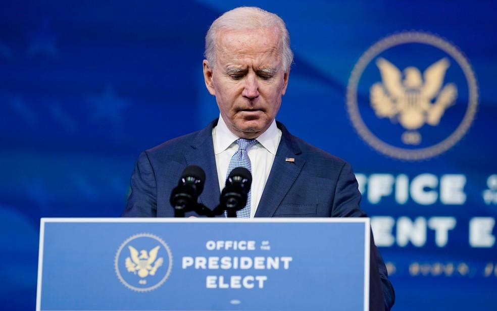 Joe Biden fez pronunciamento AP Photo/Susan Walsh
