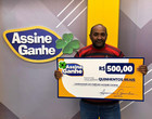 Assine Ganhe: 93º sorteado recebe prêmio de R$ 500 no GMNC