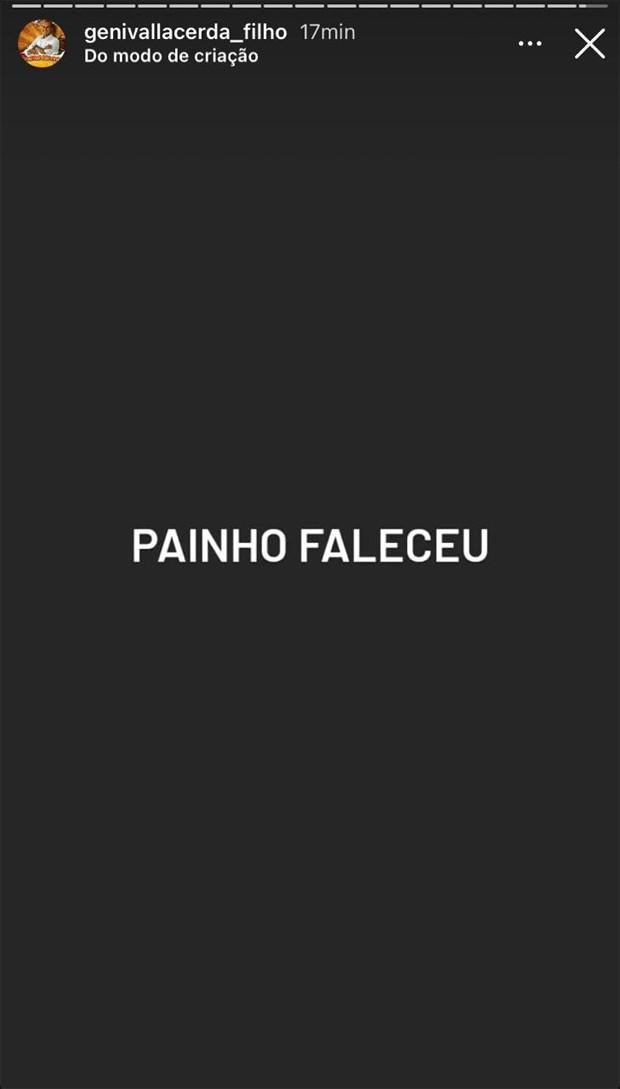 Genival Lacerda Filho informou os seguidores sobre o falecimento do pai - Foto: Instagram
