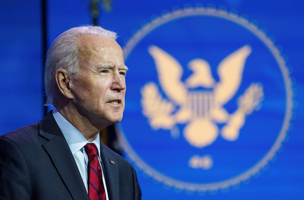 Joe Biden, presidente eleito dos EUA - Foto: Kevin Lamarque
