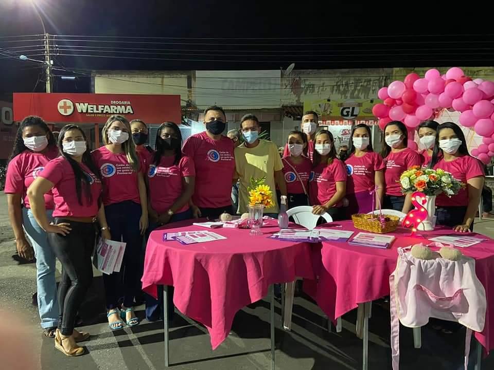 Outubro Rosa é lembrado em Monsenhor Gil pela equipe da Secretaria de Saúde - Imagem 1