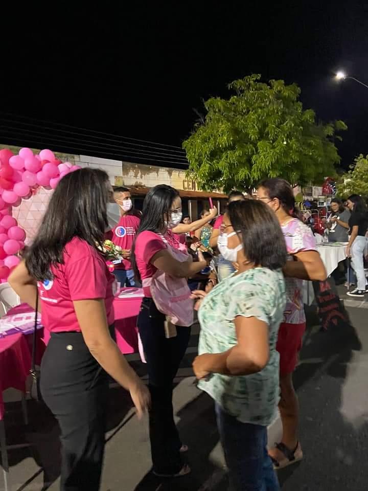 Outubro Rosa é lembrado em Monsenhor Gil pela equipe da Secretaria de Saúde - Imagem 2