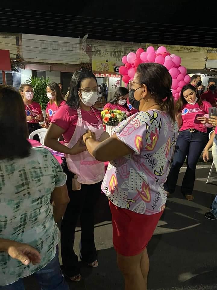 Outubro Rosa é lembrado em Monsenhor Gil pela equipe da Secretaria de Saúde - Imagem 4