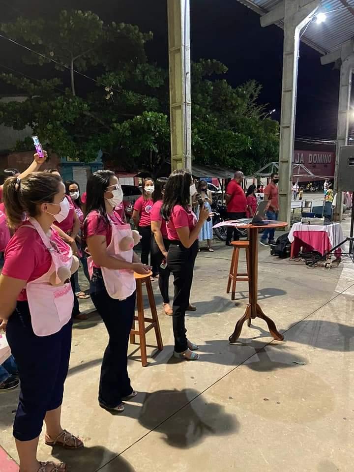 Outubro Rosa é lembrado em Monsenhor Gil pela equipe da Secretaria de Saúde - Imagem 5