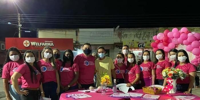 Outubro Rosa é lembrado em Monsenhor Gil pela equipe da Secretaria de Saúde