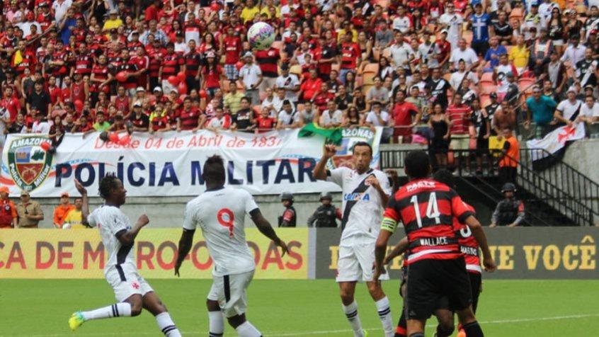 Jogo entre Vasco x Flamengo na Arena da Amazônia em 2014. (Foto: Carlos Gregório Jr-Vasco.com.br)