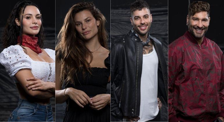 Aline, Dayane, Gui Araujo e Victor são indicados à Roça - Foto: Reprodução/PlayPlus