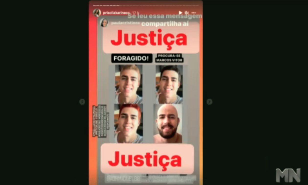 Marcos Vitor é oficialmente considerado foragido da Justiça