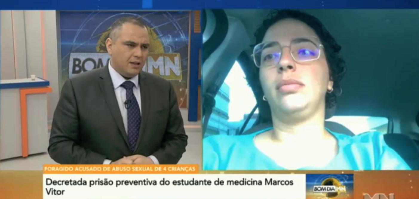 Priscila Karine, irmã da madrasta de Marcos Vitor e mãe de uma das vítimas do estudante de medicina