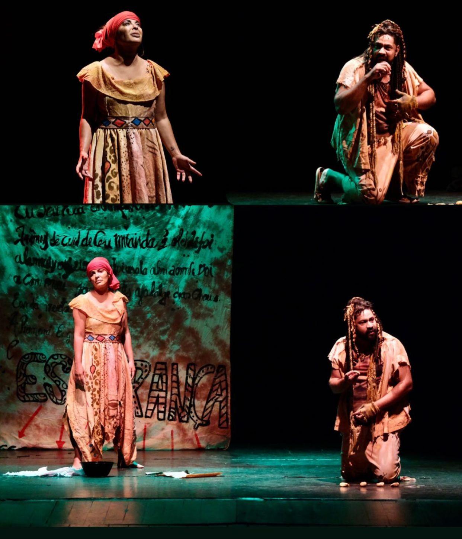 Imagens mostram trechos da peça em Teresina - Foto: Tibério Helio
