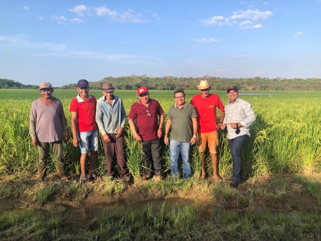 Prefeito Genival Bezerra visita campo de produção arroz - Imagem 5
