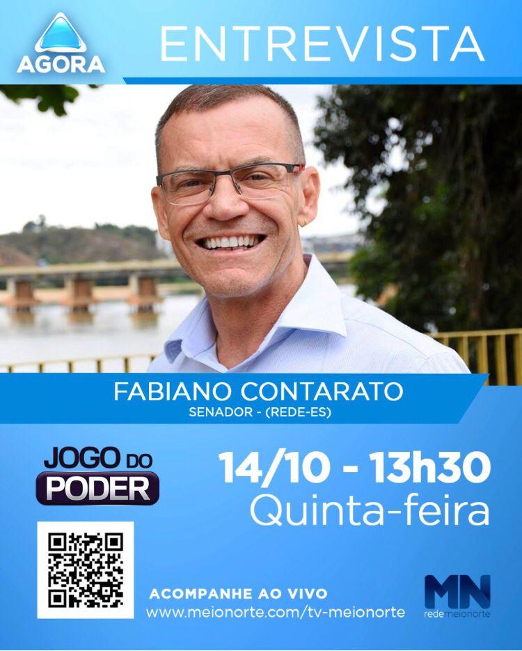 Senador Fabiano Contarato concede entrevista para Jogo do Poder