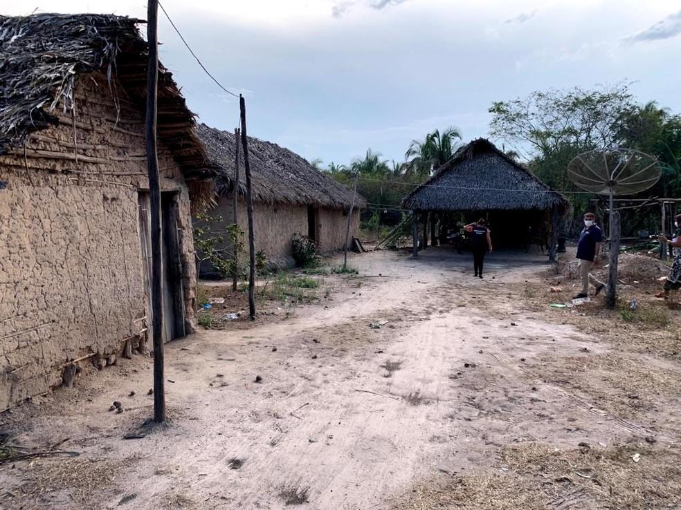 Povoado onde a criança mora em Chapadinha