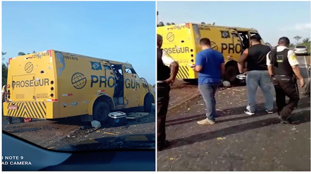 Homens armados atacam carro-forte na MA-206