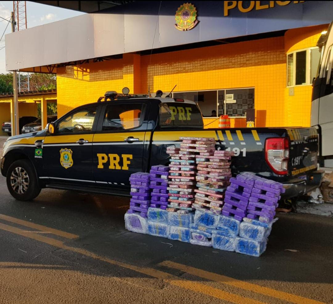 PRF apreende 305 kg de maconha avaliada em R$ 505 mil em Floriano - Foto: Divulgação/PRF