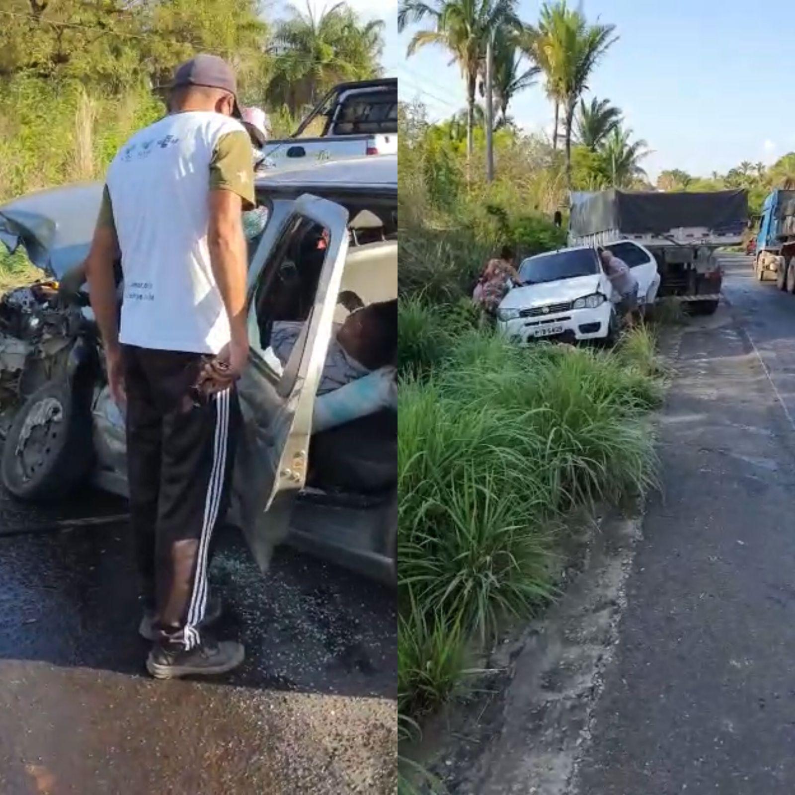 Acidente aconteceu na saída de Teresina, na PI-130 - Foto: Reprodução/Redes Sociais