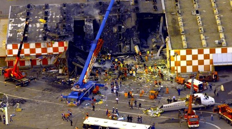 Desaste aéreo de Milao em 2001 - Foto: Reprodução/Internet