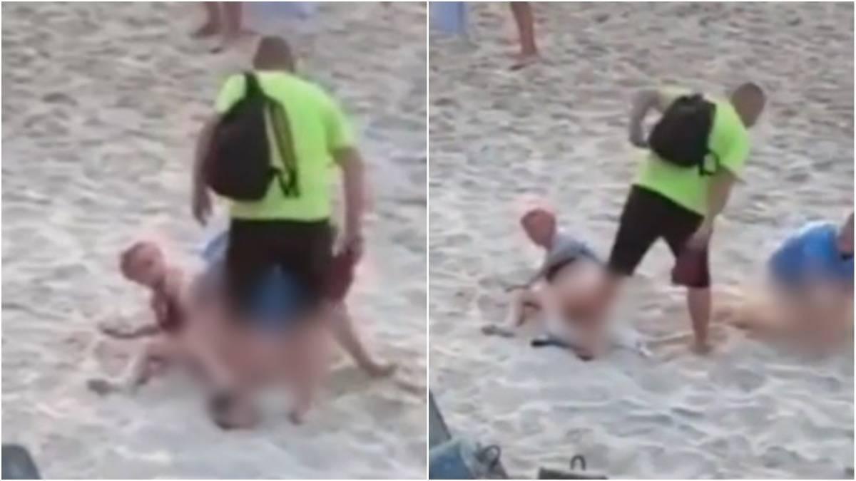 Casal foi flagrado fazedo sexo em praia
