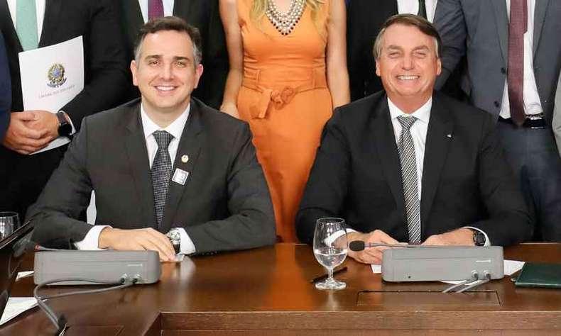 Rodrigo Pacheco recebeu apoio de Jair Bolsonaro