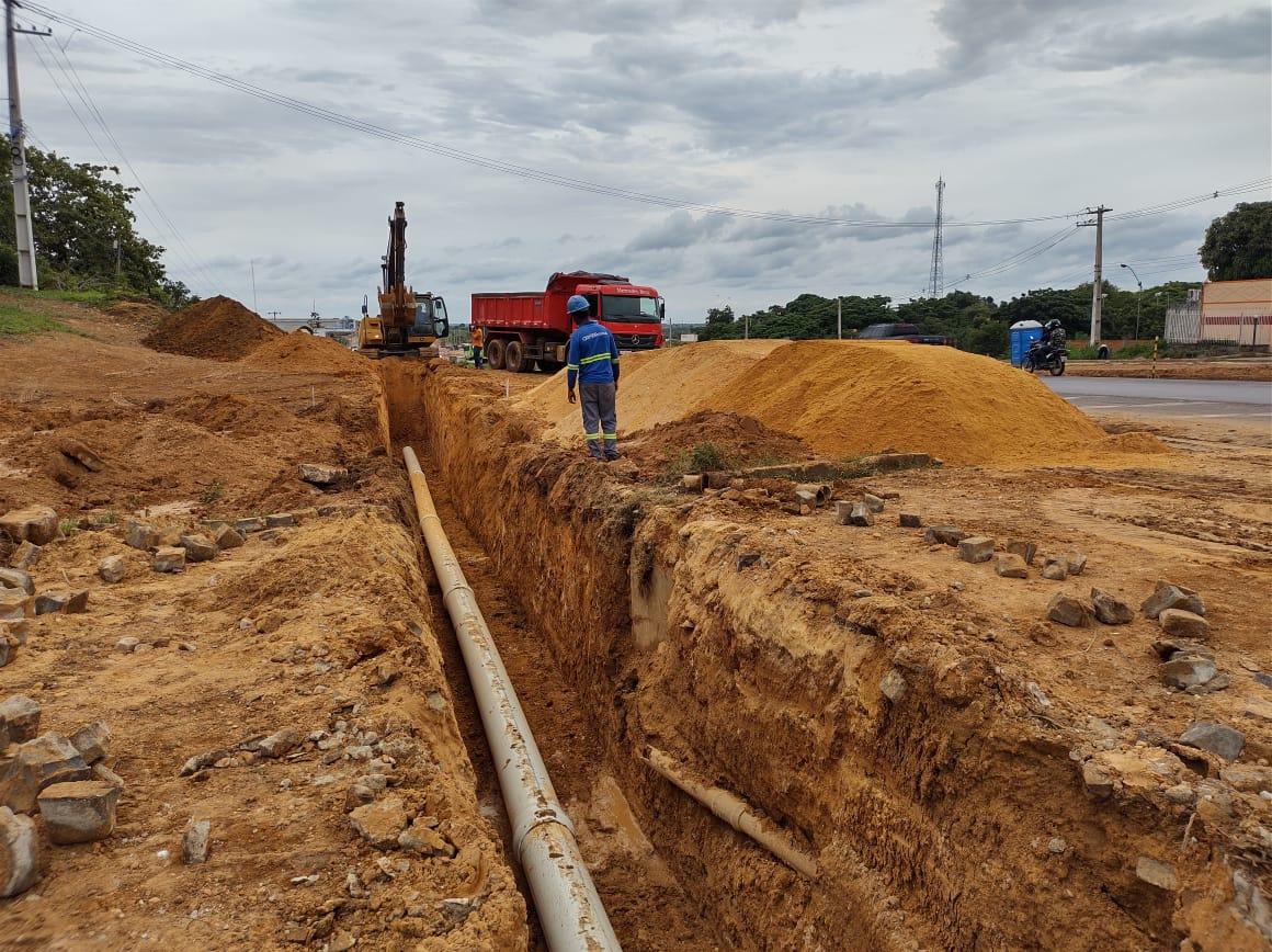 Trecho implantará cerca de 530 metros de adutora de 300 mm