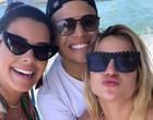 Ex-BBB Ivy Moraes curte lancha na companhia de Gabi Martins e Tierry