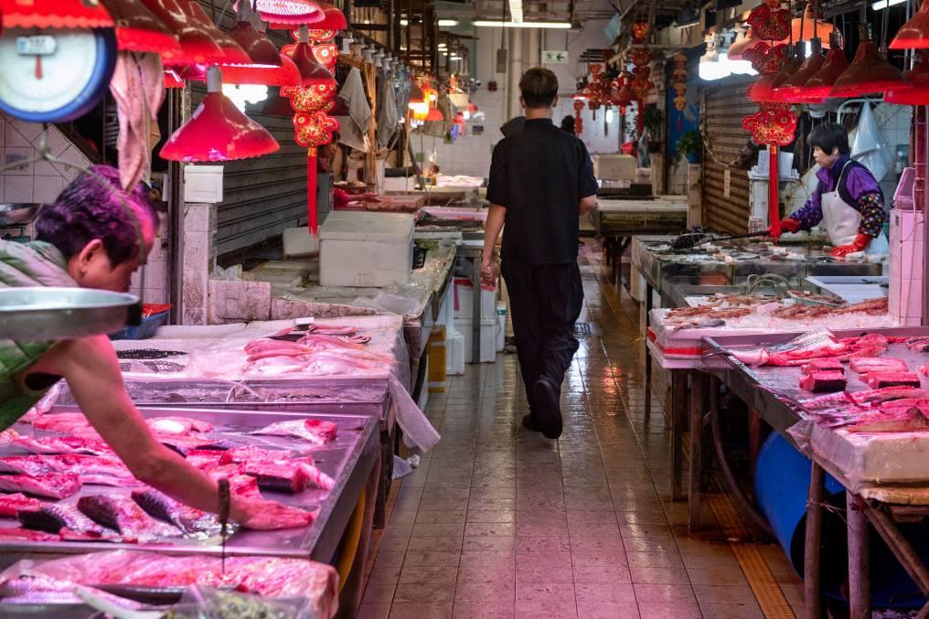 Mercado Molhado na China- Foto:Getty Images
