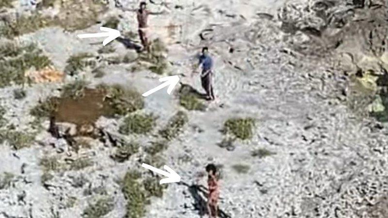 Trio sobrevive em ilha por 33 dias