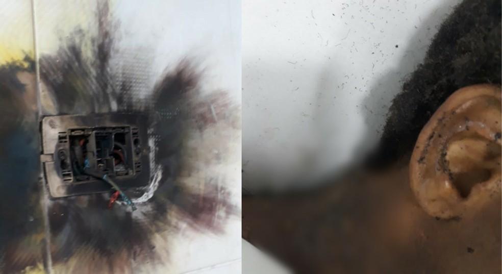 Menina de 9 anos é internada na UTI após casa ser atingida por raio - Imagem 1