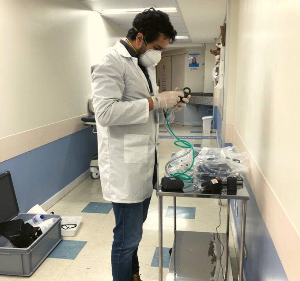 Coleta de partículas no interior de hospital
