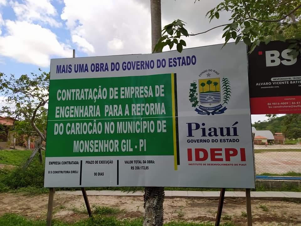 Prefeito de Monsenhor Gil, João Luiz, visita Estádio Cariocão para conferir a implantação do Gramado - Imagem 5