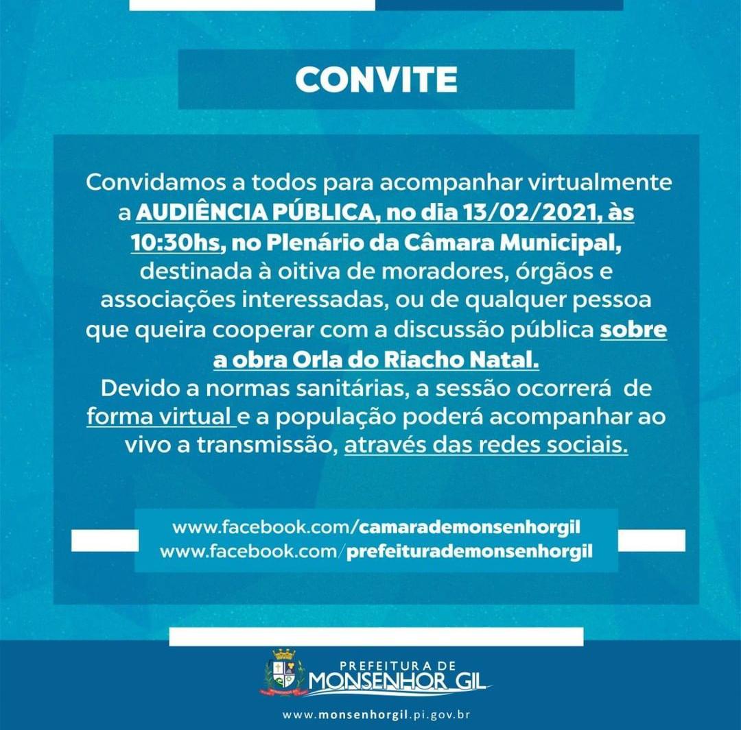 Resultado da Audiência Pública sobre a Construção da Orla em Monsenhor Gil traz cenário de indefinição - Imagem 2